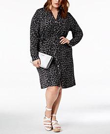 MICHAEL Michael Kors Plus Size Printed Shirtdress