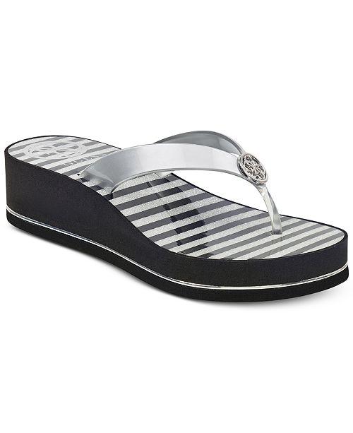 Guess Women's Enzy Flip-Flops Women's Shoes ND4UYKHOU