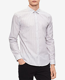 Calvin Klein Men's Chain Link Printed Shirt