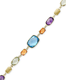EFFY® Multi-Gemstone Link Bracelet (18-3/4 ct. t.w.) in 14k Gold