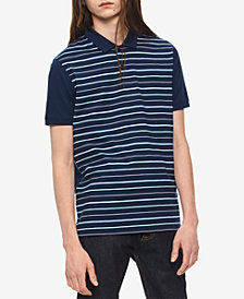 Calvin Klein Men's Auto Striped Polo