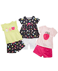 First Impressions Fruit-Print Tunics & Shorts Separates, Baby Girls, Created for Macy's
