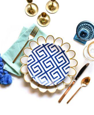 Navy Totem Dinner Plate
