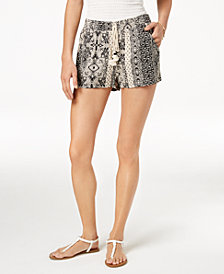 Be Bop Juniors' Printed Tassel Shorts