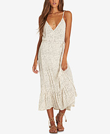 Billabong Juniors' Hold Me Tight Wrap-Front Slip Dress