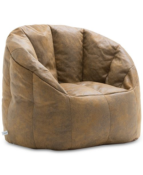 Enjoyable Big Joe Large Milano Blazer Bean Bag Chair Quick Ship Short Links Chair Design For Home Short Linksinfo