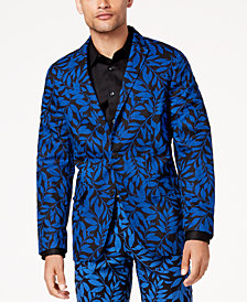 I.N.C. Men's Slim-Fit Leaf-Print Blazer, Created for Macy's
