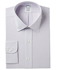 Brooks Brothers Men's Regent Classic/Regular Fit Non-Iron Broadcloth Stretch Micro Check Dress Shirt