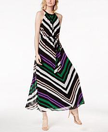 Bar III Chevron-Print Maxi Dress, Created for Macy's