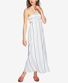 1.STATE Striped Halter Dress