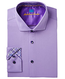 Michelsons of London Men's Slim-Fit Performance Stretch Solid Dress Shirt