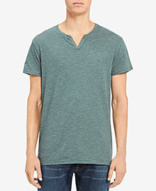 Calvin Klein Jeans Men's Heathered Split-Neck T-Shirt