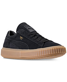 Puma Men's Breaker Suede Gum Casual Sneakers from Finish Line