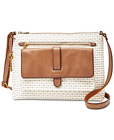 Fossil Kinley Stripe Medium Crossbody