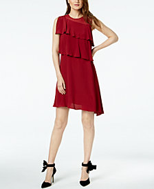 Marella Luca Tiered Illusion A-Line Dress