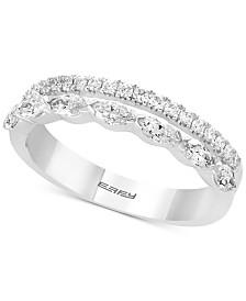EFFY® Diamond Two-Row Ring (5/8 ct. t.w.) in 14k White Gold