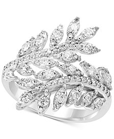 Pavé Classica by EFFY® Diamond Vine Bypass Ring (1 ct. t.w.) in 14k White Gold