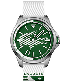 Lacoste Men's Capbreton White Silicone Strap Watch 46mm