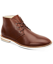Calvin Klein Men's Albe Nappa Leather Chukka Boots