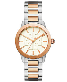 Tory Burch Women's Gigi Two-Tone Stainless Steel Bracelet Watch 36mm