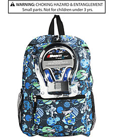 FAB Little & Big Boys Galaxy-Print Backpack & Headphones