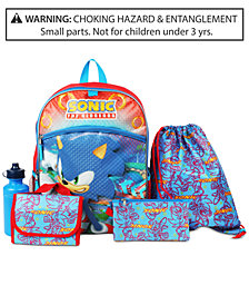Sonic The Hedgehog 5-Pc. Backpack & Accessories Set, Little & Big Boys