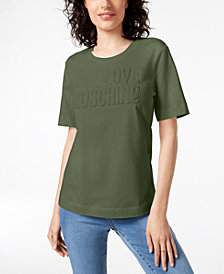 Love Moschino Cotton Textured-Graphic Shirt