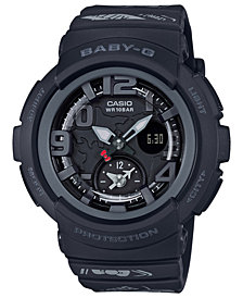 Baby-G Women's Analog-Digital Hello Kitty Black Resin Strap Watch 44.3mm - a Limited Edition