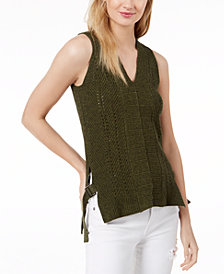525 America Petite Cotton Buckle-Side Tank Tunic, Created for Macy's