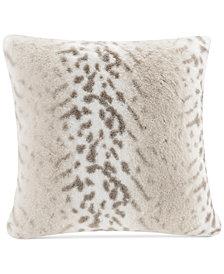 "Madison Park Signature Serengeti 20"" Square Faux-Fur Decorative Pillow"