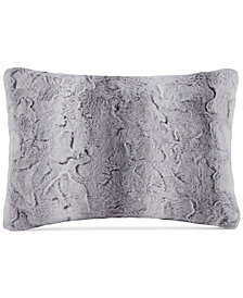 "Madison Park Zuri Faux-Fur 14"" x 20"" Oblong Decorative Pillow"