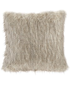 "Edina 20"" Square Faux-Fur Decorative Pillow"