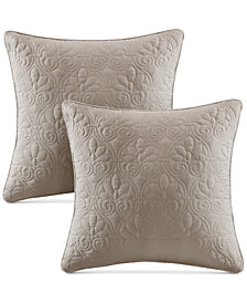 "Madison Park Quebec Quilted 20"" Square Decorative Pillow Pair"