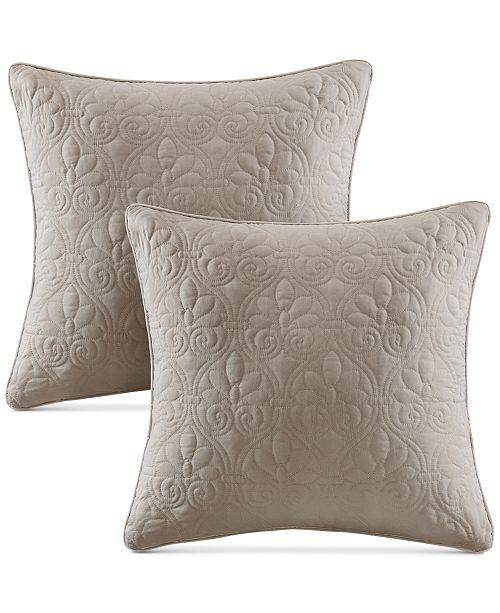 Madison Park Quebec Quilted 40 Square Decorative Pillow Pair Cool Decorative Quilted Pillows