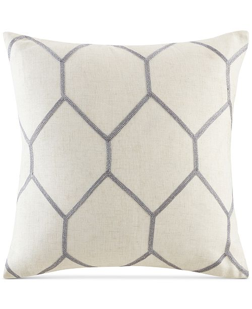 Madison Park Brooklyn 40 Square Metallic GeoEmbroidered Decorative Awesome Madison Square Decorative Pillow