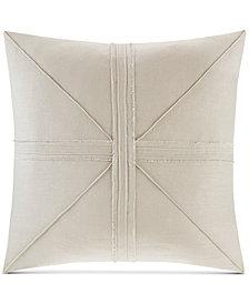 "Madison Park Avella Oversized 24"" Square Pieced Frayed Decorative Pillow"
