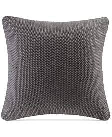 "Bree Chunky-Knit 20"" Square Pillow Cover"