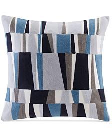 "INK+IVY Lars 20"" Square Embroidered Broken Stripe Decorative Pillow"