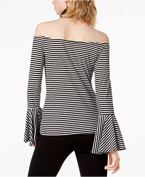 III Off Top Shoulder White Bar Macy's Created for The Stripe Black Rdq4RW5gwA