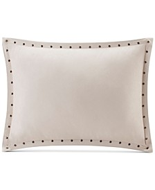 "Alban Faux-Suede 14"" x 20"" Studded Oblong Decorative Pillow"