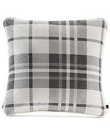 "Woolrich Reversible Plaid Plush to Berber 20"" Square Decorative Pillow"