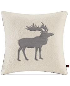 "Moose Reversible 18"" Square Decorative Pillow"