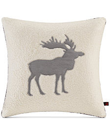 "Woolrich Moose Reversible 18"" Square Decorative Pillow"