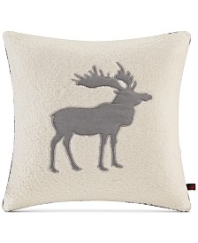 "Woolrich Moose Reversible 18"" Square Decorative Pillow"