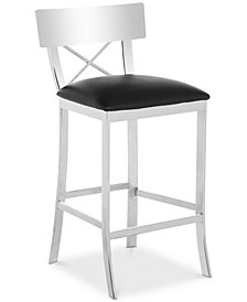 Elward Faux Leather Counter Stool, Quick Ship