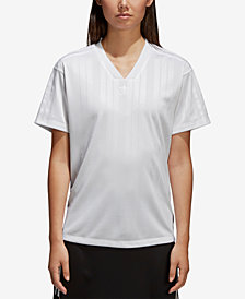 adidas Originals Jacquard V-Neck T-Shirt