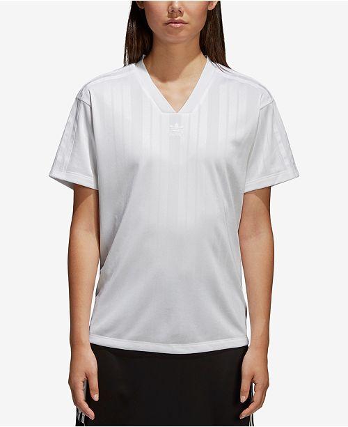 new style ab47c e3988 ... adidas Jacquard V-Neck T-Shirt ...