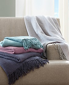 "Reeve 50"" x 60"" Ruched Throw"