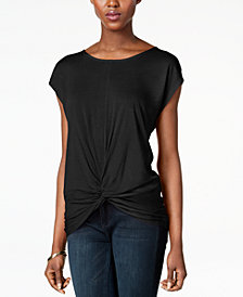 I.N.C. Petite Twist-Hem Top, Created for Macy's