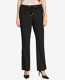 Calvin Klein Tie-Waist Soft Ankle Pants
